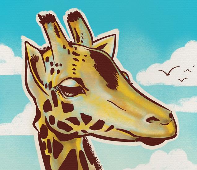 Joseph Grice Giraffe Digital Illustration