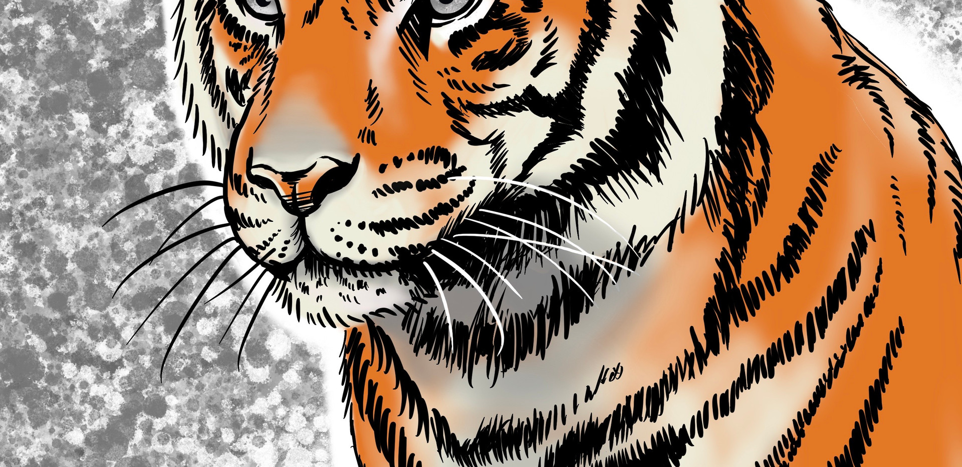 Joseph Grice Tiger Digital Illustration