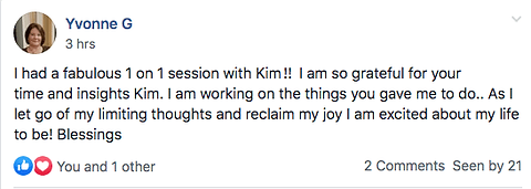 Kim Serafini Coaching feedback