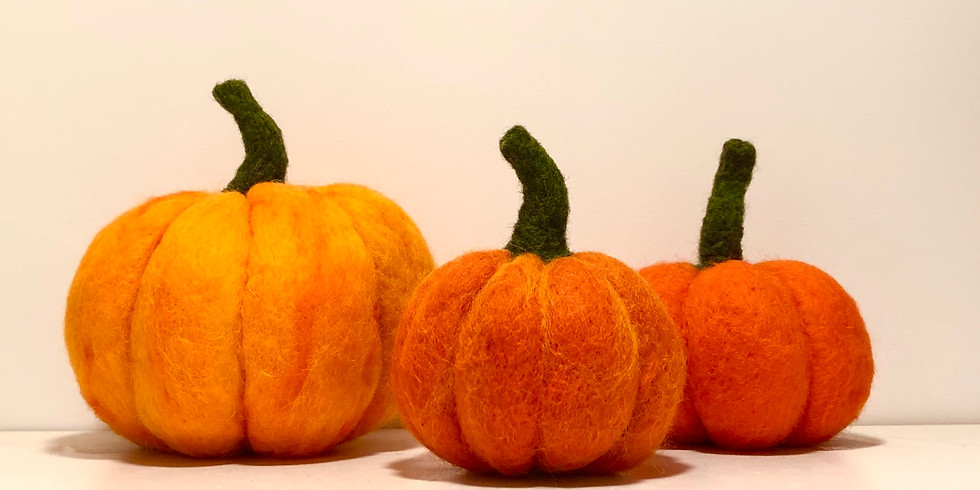 Needle Felted Pumpkin - SOLD OUT