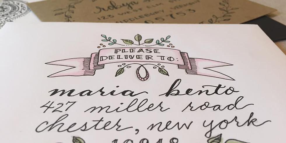 'Sip & Script' Envelope Lettering Workshop