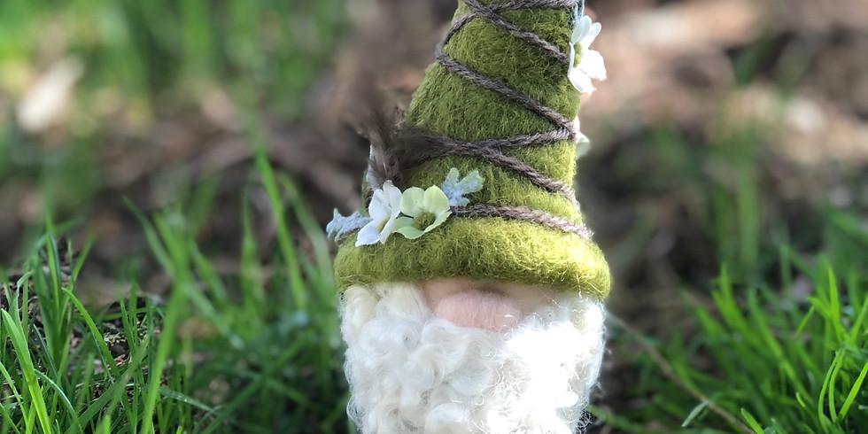Needle Felted Woodland Gnome