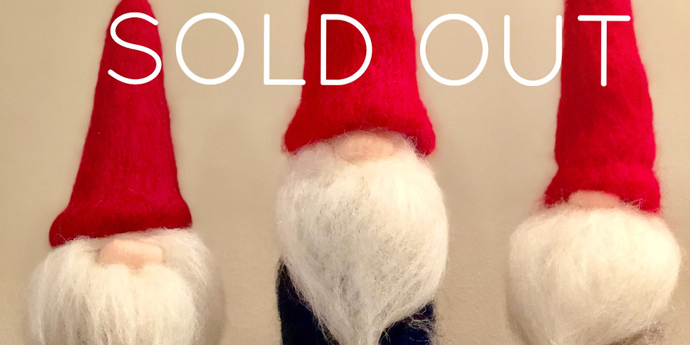 Needle Felted Holiday Gnome