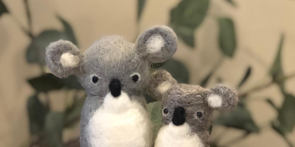 Needle Felted Koala Workshop