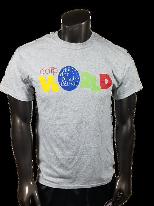DDTP World Shirt - Classic Design on Gray