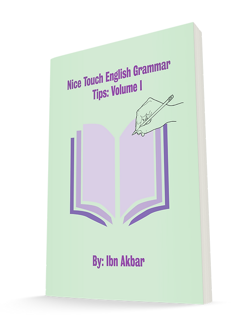 Nice Touch English Grammar Tips: Volume I