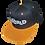 Thumbnail: DDTP World Snapback Hat - Grey Logo on Black with Yellow Brim