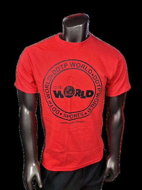 DDTP World Circle Design - on RedTee