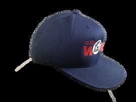 DDTP World Snapback Hat - Red & White on Blue