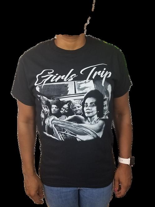 """""""Girls Trip"""" Shirt - White lettering on Black"""