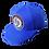 Thumbnail: DDTP World 85 Snapback Hat - Black and Red Circle Patch on Royal Blue