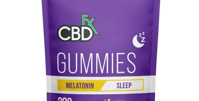 CBDfx - CBD Edible - Broad Spectrum Melatonin Sleep Gummies - 25mg