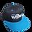 Thumbnail: DDTP World Snapback Hat - Grey Logo on Black with Aquamarine Brim