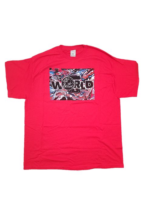 DDTP World Abstract Shirt - Abstract Design on Red