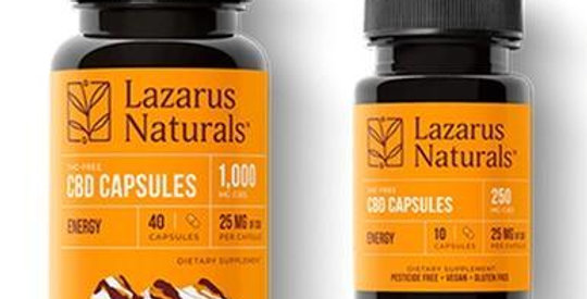 Lazarus Naturals - CBD Capsules - Isolate Energy Blend - 25mg