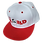 Thumbnail: DDTP World Snapback Hat - Red Logo on White with Red Brim