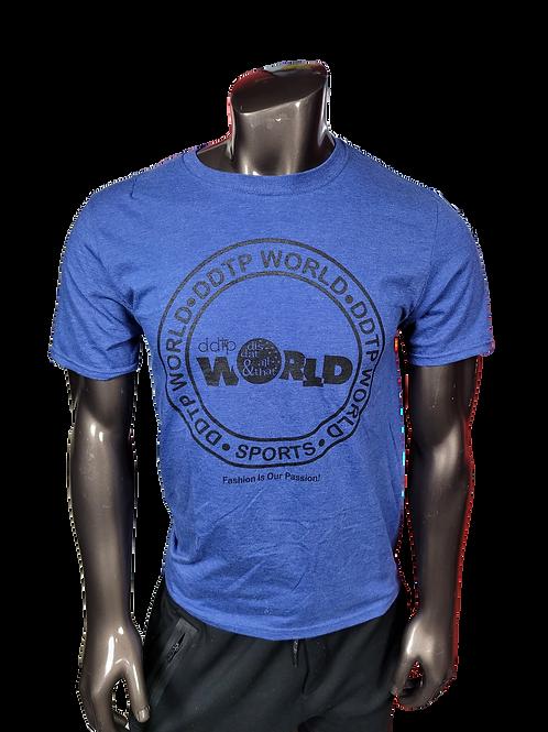 DDTP World Circle Design - on Royal BlueTee