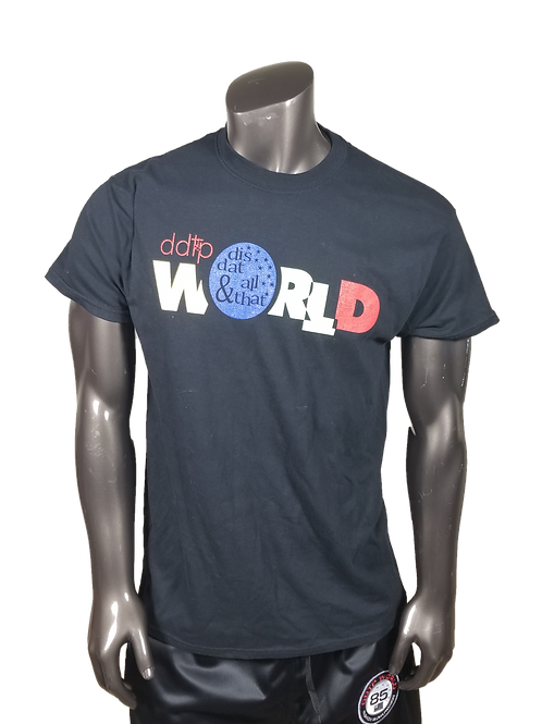 DDTP World Shirt - Classic Design on black