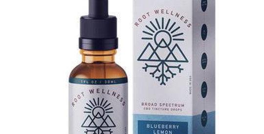 Root Wellness - CBD Tincture - Broad Spectrum Blueberry Lemon - 500mg-1500mg