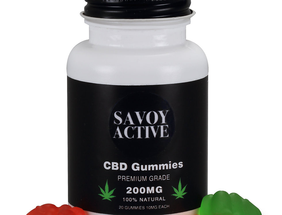 CBD Gummies - Isolate - Premium Grade - 100% Natural - 200MG CBD - 20 Gummies