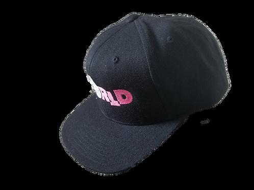 DDTP Snapback Hat - Pink & Silver on Black