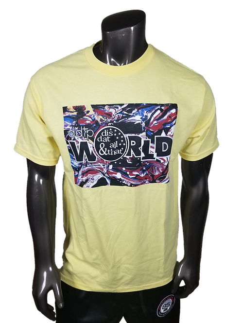 DDTP World Abstract Shirt - Abstract Design on Yellow