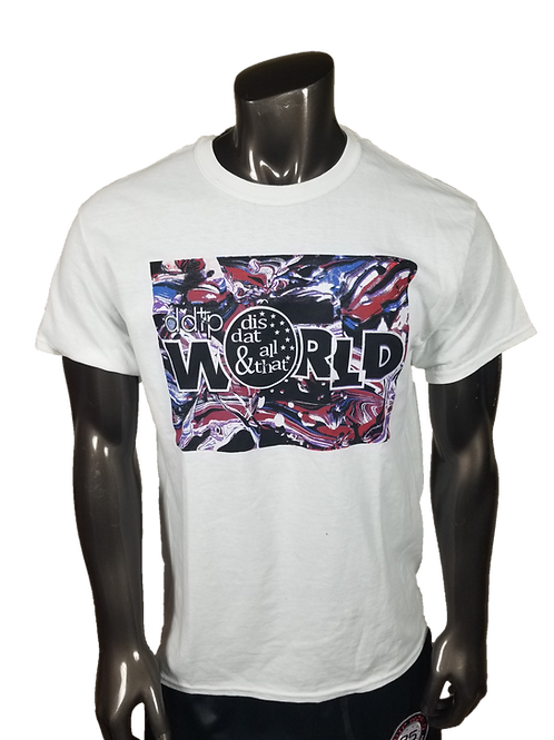 DDTP World Abstract Shirt - Abstract Design on White