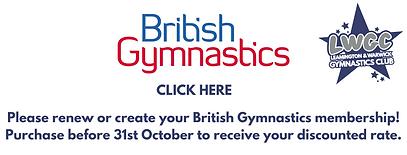 Renew or create your British Gymnastics
