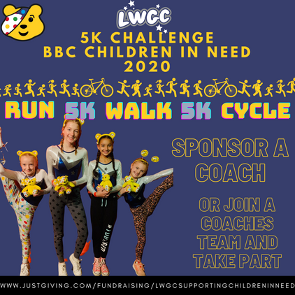 Sponsor or join Team LWGC to raise money for BBC Children in Need!
