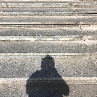 my shadow on the Russian Steps