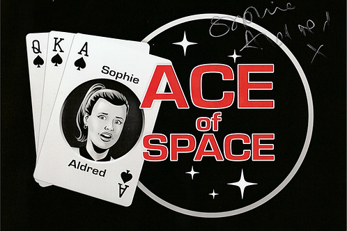 Sophie Aldred: autographed Ace of Space card