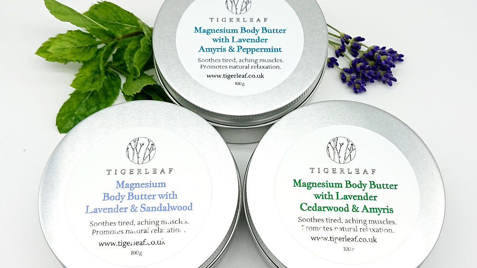 Lavender, Amyris and Cedarwood Magnesium Body Butter 60g