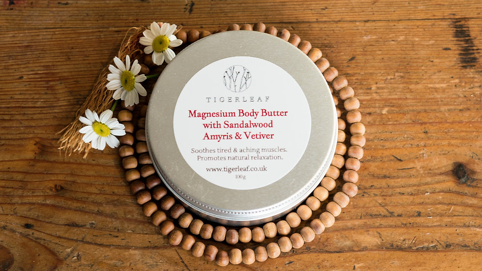 100g Sandalwood, Amyris and Vetiver Magnesium Body Butter