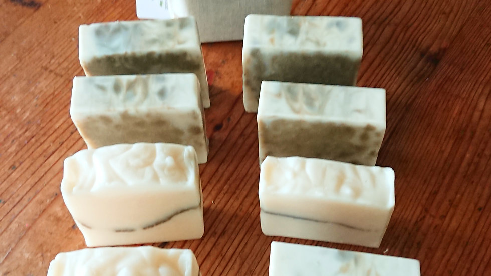 Bergamot, Cedarwood, Clary Sage and Rosemary Soap with French Green Clay