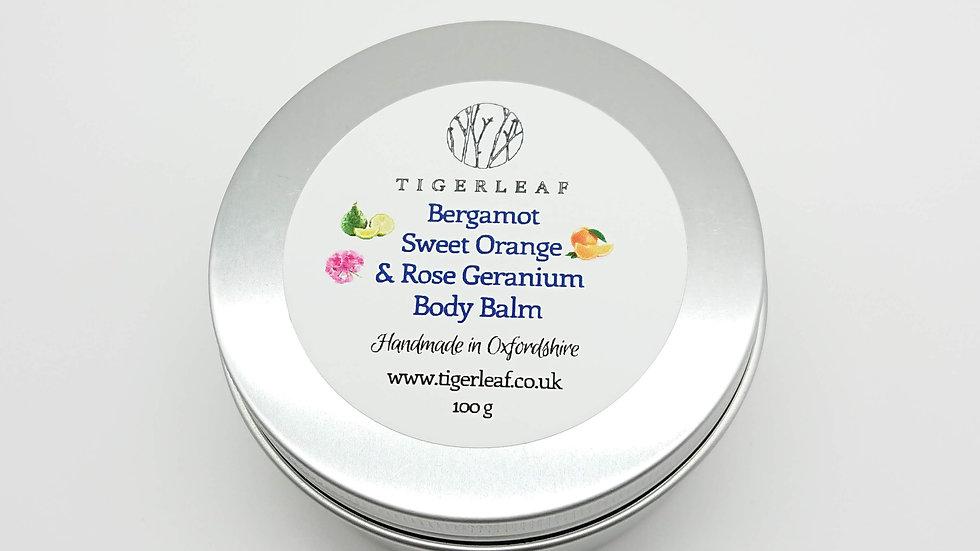 Bergamot, Sweet Orange & Rose Geranium Body Balm