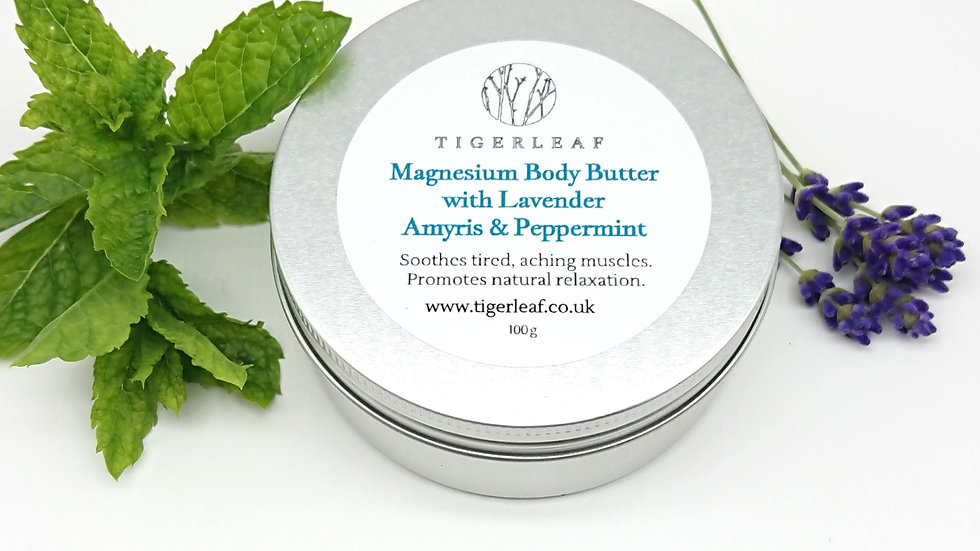 Lavender, Amyris and Peppermint Magnesium Body Butter 100g