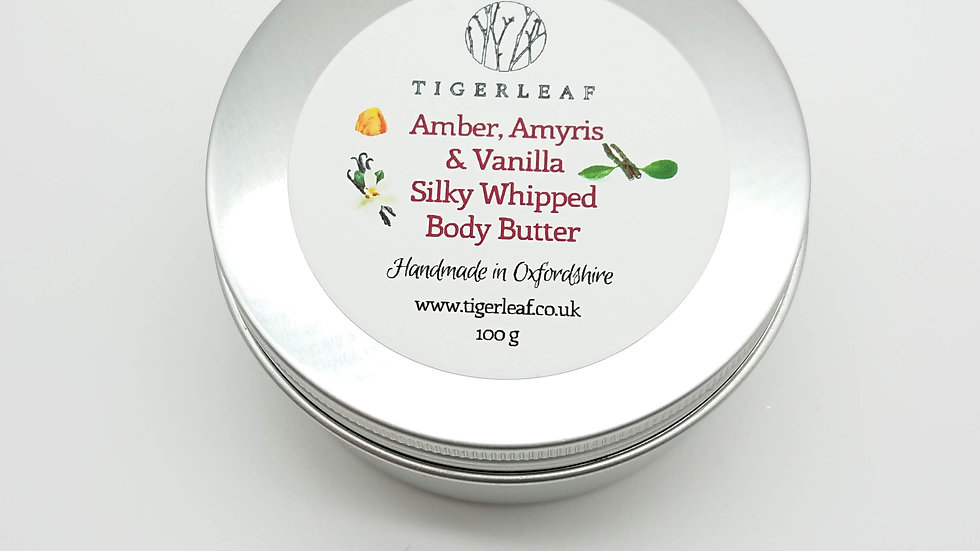 Amber, Amyris & Vanilla Silky Whipped Body Butter