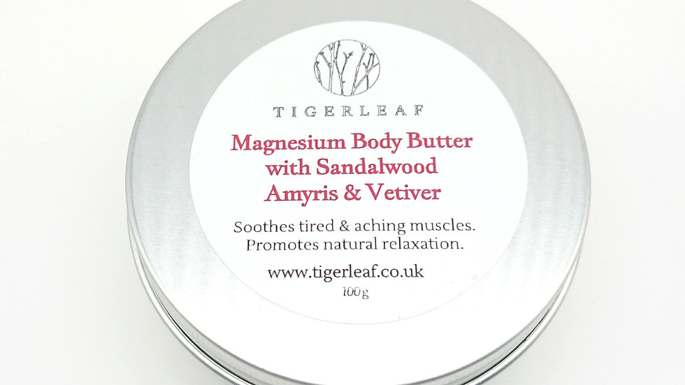 Sandalwood, Amyris and Vetiver Magnesium Body Butter
