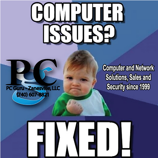 Any Computer or Network issue fixed! PC Guru Zanesville llc.