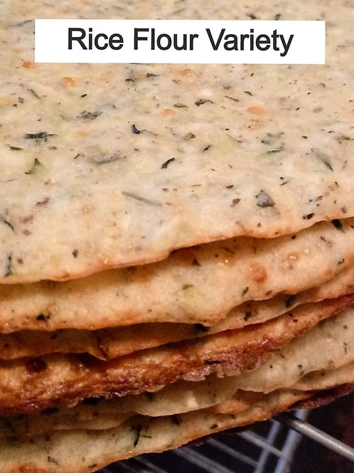 Summer Squash Pizza Crusts--Made with Rice Flour