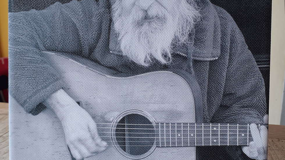 Canvas print of St Ives Busker