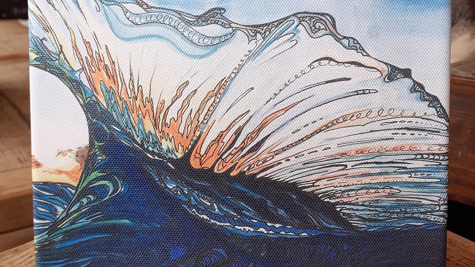 Tribal Wave canvas print