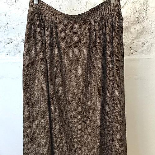 VINTAGE 80's Brown Patterned Skirt