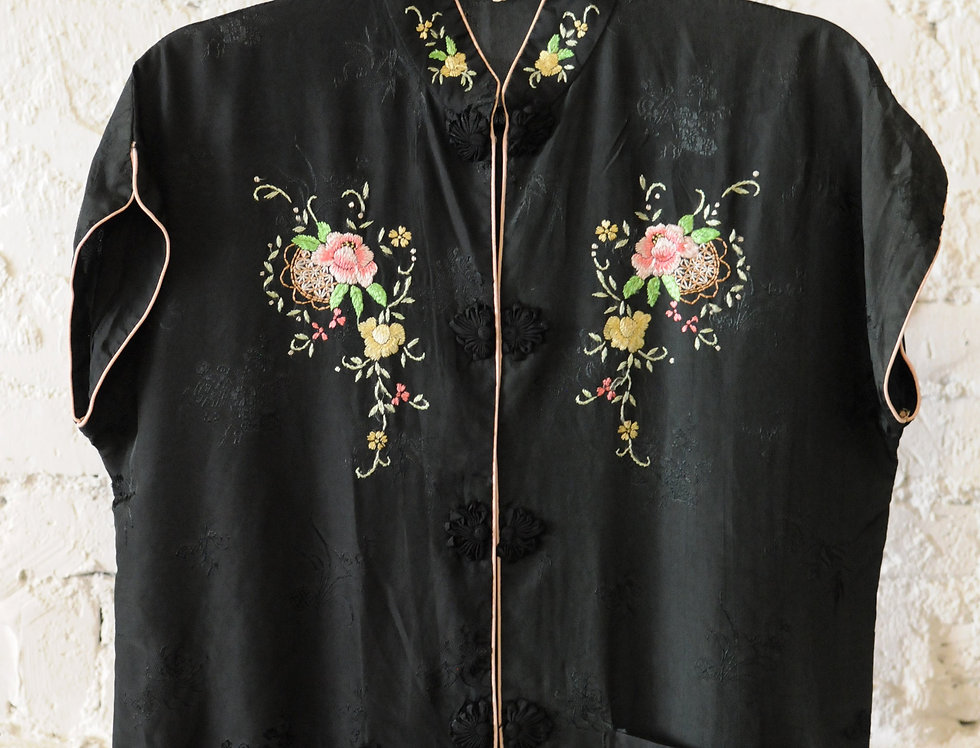 VINTAGE 40's Traditional Chinese Blouse