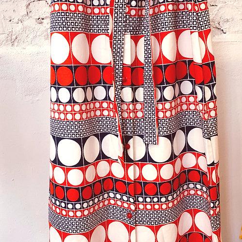 VINTAGE 60's Folk Cotton Skirt