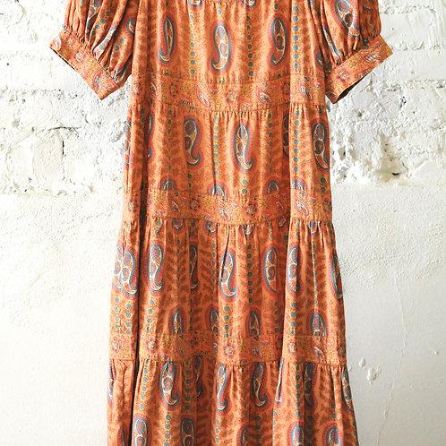 VINTAGE 70's French Boho Dress