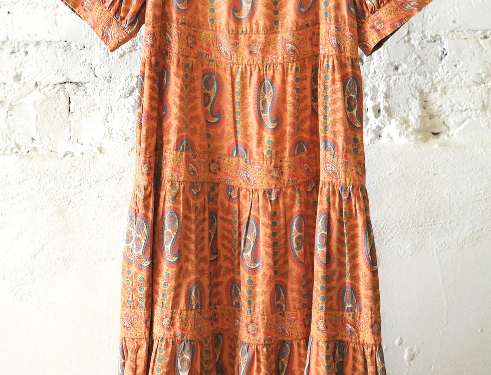 VINTAGE 70's French Boho Dress