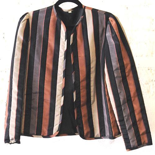 VINTAGE 70's Striped Puffer Jacket