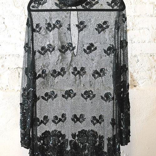 VINTAGE 60's Forest & Lace Dress