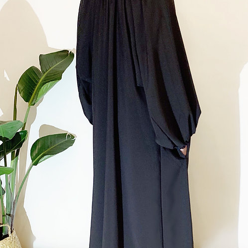 THE PRAIRIE GOWN Black Cotton